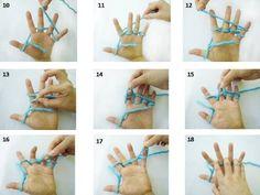 Passo a Passo Tricô de dedo   Super fácil e gostoso de fazer....