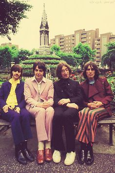 Richard Starkey (Ringo), Paul McCartney, John Lennon and George Harrison. Yes, I DID used to be a Beatle maniac.