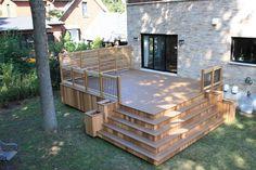 Patio à palier, patios & piscines, patio & spas