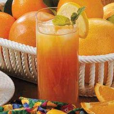Pineapple Iced Tea (7 individual tea bags 1 cup unsweetened pineapple juice 1/3 cup lemon juice 2 tablespoons sugar)