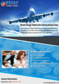 Get the cheapest flight tickets from Cheap Tickets Fares which provides best travel deals on flight tickets across US and beyond. Free Travel, Cheap Travel, Us Travel, Cheap Flight Tickets, Cheap Tickets, Best Travel Deals, Europe, Tours, America