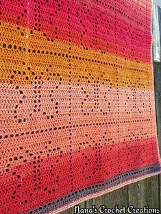 "Crochet Afghans Design Ravelry: Nana's ""Basking Butterflies"" Baby Blanket pattern by D Maunz - Crochet Afghans, Filet Crochet, Crochet Patterns Filet, Crochet Butterfly Pattern, Crochet Baby Blanket Free Pattern, Crochet For Beginners Blanket, Afghan Crochet Patterns, Crochet Blankets, Baby Blankets"