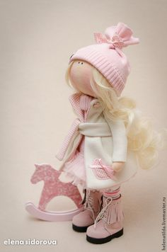 Коллекционные куклы ручной работы. Ярмарка Мастеров - ручная работа. Купить Нежная малышка Мia. Handmade. Бледно-розовый