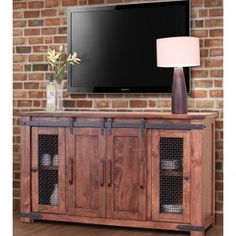 Solid Wood Tv Cabinet With Doors