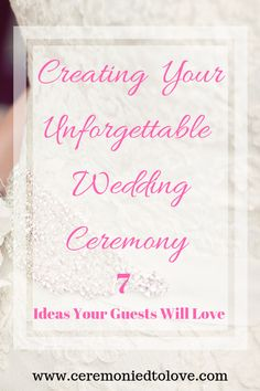 Do you want a wedding ceremony that everyone will remember? Read these ideas for creating your unique wedding ceremony and adding the small touches that brides forget. Wedding Advice, Plan Your Wedding, Budget Wedding, Diy Wedding, Wedding Planning, Wedding Ideas, Wedding Blog, Wedding Decorations, Wedding Groom