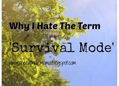 "One Catholic Mama: Why I Hate The Term ""Survival Mode"""