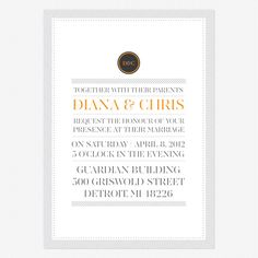 Simply Modern Wedding Invitations  nice type, monogram, and patterns www.lovevsdesign.com