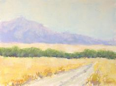Desert Morning Up the Hill Original Pastel Painting by Paige Smith-Wyatt contemporary originals and limited editions