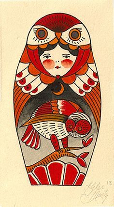 russian doll with fur hood - Google Search