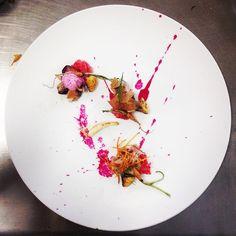 "THE THREE LITTLE PIGS: Piglet ""carnitas"", sweet potato chips, morel foil, radish foam, pickled red onion smashed, fried baby onion, beet sauce, sautéed button squashes and baby carrots #piglet #radish #sweetpotato #morel #redonion #buttonsquash #carrot #onion #beet #truecooks #theartofplating #gastromx #gastroart #chefsofinstagram #food #foodporn #thestaffcanteen #chefsroll #foodstarz #gourmetartistry #chefstalk #art #icum @icumchef #cookniche #thefeedfeed #foodgram #gastrogram…"