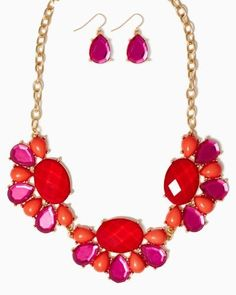 Idée et inspiration Bijoux :   Image   Description   Alstro Bib Necklace Set #CCStyle
