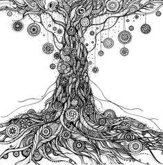 Mandala black & white- meditation art,ink and pen, original drawing,hand- Mandalas Painting, Mandalas Drawing, Zentangle Drawings, Mandala Art, Art Drawings, Zentangles, Doodle Art Journals, Design Tattoo, Meditation Art