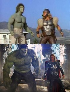 Hulk & Thor – Then and now.