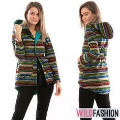 Apără-te de ploaia de toamnă cu un trenci modern! 🍂🍁 Cardigan Multicolor, Spandex, Casual, Modern, Sweaters, Fashion, Moda, Trendy Tree, Sweater