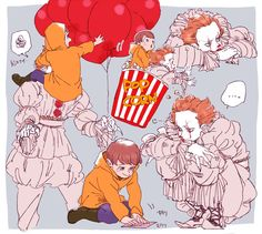 Slasher Movies, Horror Movie Characters, Horror Movies, Arte Horror, Horror Art, Coraline, It The Clown Movie, Pennywise The Dancing Clown, Bad Friends