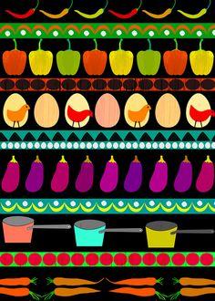 kitchen pattern  by Sevenstar aka Elisandra, via Flickr