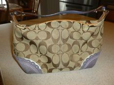 Coach Small Signature Bag Handbag Hobo Zip Satchel Purse Canvas Leather #Coach #ShoulderBag