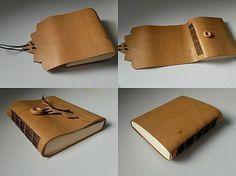 leather diary / book / bindnig / long stitch / original / diy / Praktický kožený zápisník (A6-)