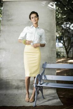 Lemon Solo Skirt | Aussie Afternoon Collection by Shabby Apple