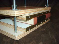 Brass Edged Boards in Book Press