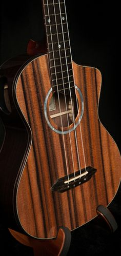 This is the kind of instrument I play! A tenor ukulele! It makes a such lovely sound!