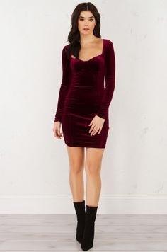 BIG AMOUNT MINI VELVET DRESS