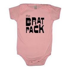 The brat pack infant and toddler shirts are so cute. Perfect for boy or girl! Trendy clothes for the hip kid! Shop at MyRetroBabyNow for cool baby clothes!