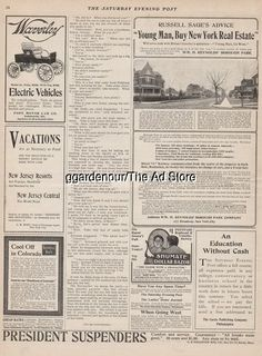 1903 Waverley Electric Vehicle Model 21 Pope Motor Car Comp.Indianapolis IN Ad