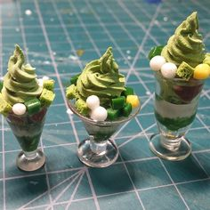 miniaturefood  녹차파르페. 영어로 모지?#mochaparfait#mochaicecream #miniature #miniaturefood#fakefood #clay#미니어쳐#김포댁입니당