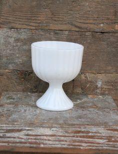 Vintage White Milk Glass   Compote   Milk by TheMixingBowlOnline
