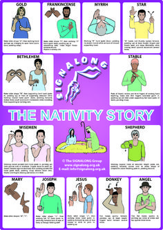 Nativity Story in signs - BSL (British Sign Language) - Photo Simple Sign Language, Sign Language For Kids, Sign Language Phrases, Sign Language Alphabet, Sign Language Interpreter, Learn Sign Language, Australian Sign Language, British Sign Language, Learn Asl Online