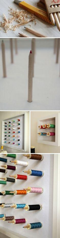 pencil bobbin rack