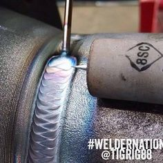 TIG welding. This is really pretty!! #welding #weldernation @tigrig88 awesome pic!