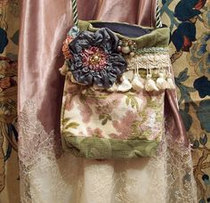Hand Made Carpet Bag Purse From Vintage Tapestry by Resurrection Rags, via Flickr