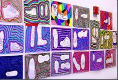 Shoe Still Life Art Project-Visit elementaryartfun.blogspot.com