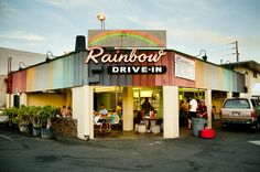 Rainbow Drive-in (tried 2014) I tried the loco moco and chicken plate. I thought this place was going to be good, but I was disappointed.