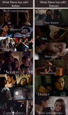 Team Stefan <3 ALL Damon cares about is sex, but Stefan actually cares about getting to know you and eke ping you safe....