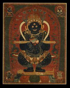 Mahakala (Buddhist Protector) - Panjarnata (Lord of the Pavilion)    Tibet 1800 - 1899