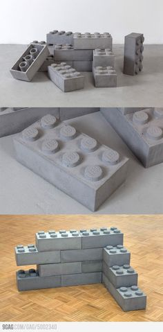 Concrete Legos: building a house just became the most excellent fun, better with alternative natural materials!