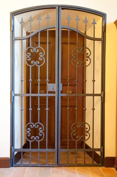 Iron Front Door Security Gates - Times are tough. Iron Front Door, Front Doors, Entry Doors, Oak Doors, Tor Design, Grill Door Design, Door Grill, Iron Gate Design, Security Gates