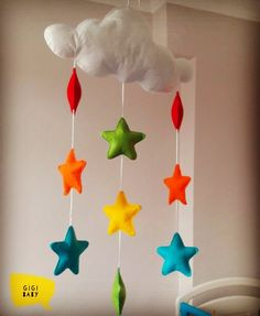 "38 Beğenme, 4 Yorum - Instagram'da GiGi Baby & More (@gigibaby.and.more): ""#dönence #bebekdonence #babymobile #keçe #kece #felt #elyapimi #handmade #baby #babyroomdecoration…"""