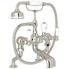 Rohl Perrin & Rowe Deck Mount Tub Faucet With Handshower U3500L1