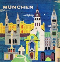 Munich travel guide, back cover by Bonito Club (1960).