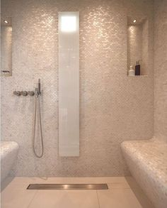 like the small floor tiles and big wall tiles for shower but not rh pinterest com