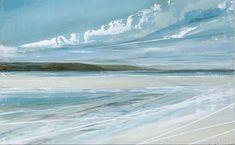 Jane Skingley, oil painting on board, Luskentyre Beach, Isle of Harris, 20x32cm Isle Of Harris, Impressionist, Still Life, Landscapes, Waves, Sky, Beach, Artwork, Painting