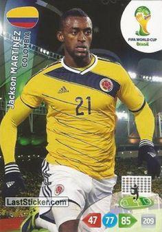 Card 85: Jackson Martínez - Panini FIFA World Cup Brazil 2014. Adrenalyn XL - laststicker.com