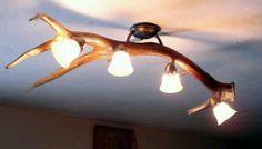 Antler light fixture