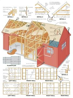 How To Build A Shed – 2 In 1 Backyard Shed: Step By Step Instructions for a 10 X 12  8 X 10 Ft Combo Shed Here's a handsome Colonial-style storage shed that's one of the most…