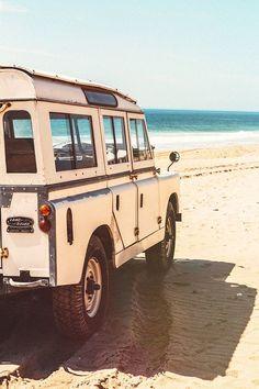 beach - land rover