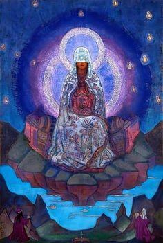 Mother of the World by Roerich. Николай Рерих - не только потрясающий художник, ученик великого Куинджи, но и весьма неординарная личность. Мистик, путешественник, буддист, масон, про которого до сих пор ходят таинственные легенды и невероятные слухи. Он однозначно еще появится у меня в разделе Истории!!